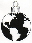 Rubber Stamp Avenue-Cling Rubber Stamp-World Ornament