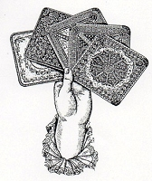 Rubber Stamp Avenue - Cling Stamp - Hand with Cards