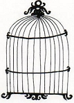 Rubber Stamp Avenue-Cling Stamp-Bird Cage