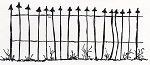 Rubber Stamp Avenue-Cling Stamp-Large Fence