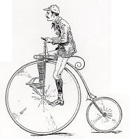 Rubber Stamp Avenue - Cling Stamp - Guy On Weird Bike