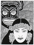 Rubber Stamp Avenue-Cling Stamp-Hawaiian Woman