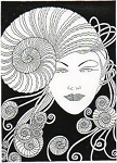 Rubber Stamp Avenue-Cling Stamp-Nautilus lady