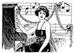 Rubber Stamp Avenue-Cling Stamp-Christmas Songstress