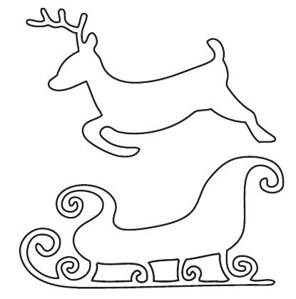 Reindeer Sleigh Outline Image Gallery sleigh o...