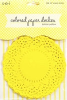 SEI - Colored Paper Doilies - Lemon Yellow (25 pcs)