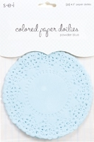 SEI - Colored Paper Doilies - Powder Blue (25 pcs)