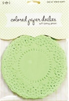 SEI - Colored Paper Doilies - Soft Spring Green (25 pcs)