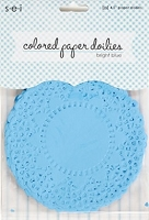 SEI - Colored Paper Doilies - Bright Blue (25 pcs)
