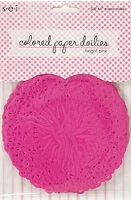 SEI - Colored Paper Doilies - Bright Pink (25 pcs)