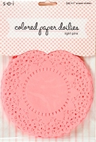 SEI - Colored Paper Doilies - Light Pink (25 pcs)