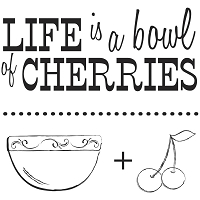 Shabby Green Door Farmer's Market - Clear Stamps - Life Is A Bowl Of Cherries