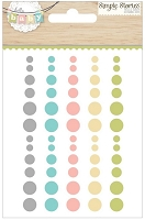 Simple Stories - Hello Baby Collection - Enamel Dots