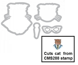 Sizzix - Framelits Die Set by Tim Holtz - Hipster Cat (cuts stamp CMS288)