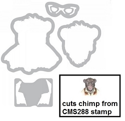 Sizzix - Framelits Die Set by Tim Holtz - Hipster Chimp (cuts stamp CMS288)
