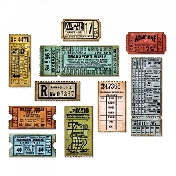 Sizzix - Thinlits Die Set by Tim Holtz - Ticket Booth (matches stamp set CMS337)