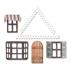 Sizzix - Thinlits Die Set by Tim Holtz - Village Fixer Upper