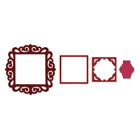 Sizzix Framelits - Fancy Square Frames (by Rachael Bright) set of 4 dies