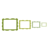 Sizzix Framelits - Scalloped Rectangle Frame (by Rachael Bright) set of 4 dies