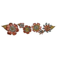 Sizzix Tim Holtz Sizzlits Decorative Strip Die - Tattered Flower Garland