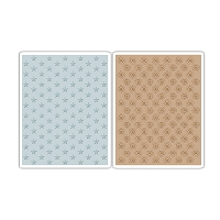 Sizzix - Texture Fades Embossing Folders by Tim Holtz - 2pk Tiny Stars & Dotted Bullseye