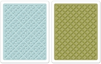 Sizzix - Textured Impressions Embossing Folders by Stephanie Barnard - 2 Pack - Dotted Squares Set