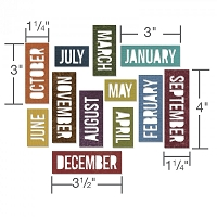 Sizzix - Thinlits Die Set by Tim Holtz - Calendar Words: Block