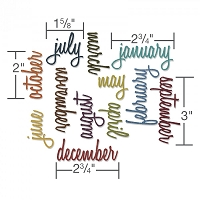 Sizzix - Thinlits Die Set by Tim Holtz - Calendar Words: Script