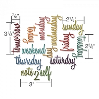 Sizzix - Thinlits Die Set by Tim Holtz - Daily Words:  Script