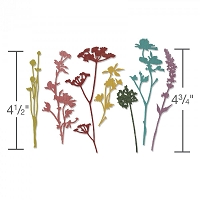 Sizzix - Thinlits Die Set by Tim Holtz - Wildflowers