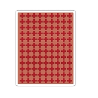 Sizzix - Textured Impressions Embossing Folder by Tim Holtz - Plus Sign