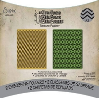 Sizzix Texture Fades Embossing Folder by Tim Holtz - 2 Pack - Chevron & Lattice Set