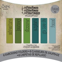 Sizzix Shadow Press Debossing Folders 6 Pack by Tim Holtz - Expedition Set