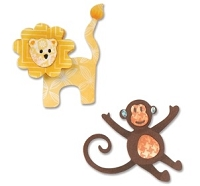 Sizzix Thinlits - Dies - by Eileen Hull - Lion & Monkey