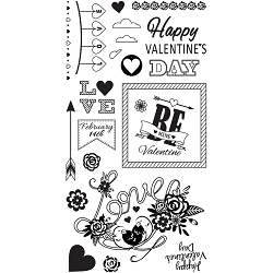 Sizzix - Clear Stamps by Courtney Chilson - Be Mine Valentine