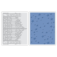 Sizzix - Texture Fades by Tim Holtz - 2 Pack - Iron Gate and Starry Night Set