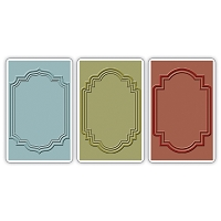 Sizzix - Texture Trades by Tim Holtz - 3 Pack - Outline Labels Set