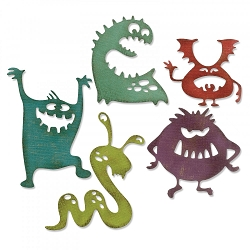Sizzix - Thinlits Die Set by Tim Holtz - Silly Monsters