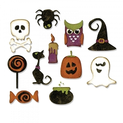 Sizzix - Thinlits Die Set by Tim Holtz - Mini Halloween Things