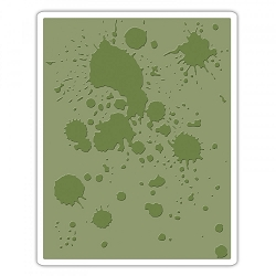 Sizzix - Texture Fades Embossing Folder by Tim Holtz - Ink Splats