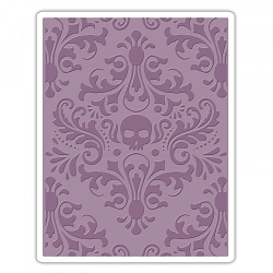 Sizzix - Texture Fades Embossing Folder by Tim Holtz - Skull Damask