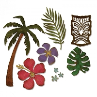 Sizzix - Thinlits Die Set by Tim Holtz - Tropical
