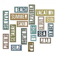 Sizzix - Thinlits Die Set by Tim Holtz - Vacation Words: Block