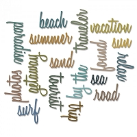 Sizzix - Thinlits Die Set by Tim Holtz - Vacation Words: Script