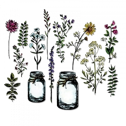 Sizzix - Thinlits Die Set by Tim Holtz - Flower Jar (works with CMS297)