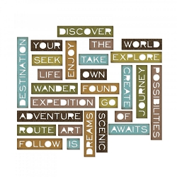 Sizzix - Thinlits Die Set by Tim Holtz - Traveler Words Thin