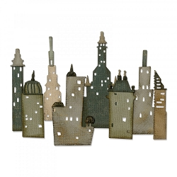 Sizzix - Thinlits Die Set by Tim Holtz - Cityscape Metropolis