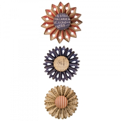 Sizzix - Thinlits Die Set by Tim Holtz - Rosette Set