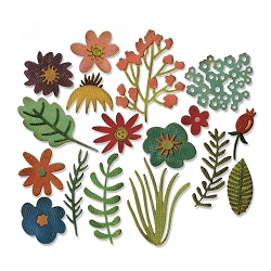 Sizzix - Thinlits Die Set by Tim Holtz - Funky Floral #1