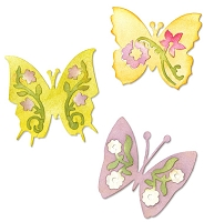 Sizzix - Sizzlits Die Set 3 Pack - Butterfly Set #3 by Scrappy Cat